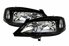 VAUXHALL ASTRA G MK4 1998-2004 GSI BLACK HEADLIGHTS HEADLAMPS LEFT & RIGHT PAIR