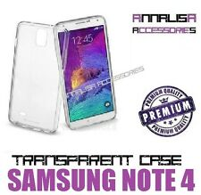 COVER TRASPARENTE PER SAMSUNG GALAXY NOTE 4 N910F CUSTODIA GEL TPU SLIM CASE