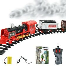 Kids Electric Train Set Toy Track Classic Sound Light Remote Christmas Gift New