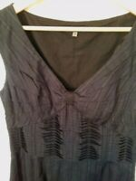 COAST Size 12 Fit Flare Black 100% Cotton Dress Special Occasion