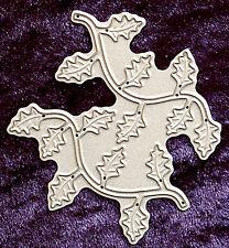 All Occasion Dies Holly Leaf Flourish Set of 2 Metal Craft Die Robert Addams 120