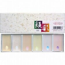NEW Boku-Undo Gansai Japanese Watercolor Paint Aurora 6 Colors Set