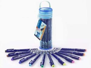 Pilot Frixion Fineliner Felt Pens Assorted in Pencil Case - Pack of 12