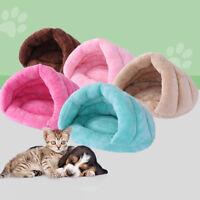 EE_ PET CAT DOG NEST BED PUPPY SOFT WARM CAVE HOUSE WINTER SLEEPING BAG MAT PAD