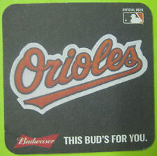 BUDWEISER BALTIMORE ORIOLES MLB Baseball Beer COASTER Mat St Louis MISSOURI 2015