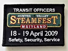 NSW TRANSIT  OFFICER STATE RAIL  RAILCORP MAITLAND STEAMFEST 2009 PATCH