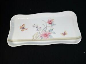 Andrea by Sadek Jewelry/Trinket Tray with Butterflies & Flowers #6915