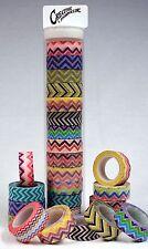 Creative Hobbies Washi Masking Tape 15mm Wx10 Yds Roll Set of 13 Chevron Pattern
