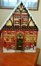 Large Traditions(Byers) Wood Christmas House Advent Calendar /24 Wooden Doors