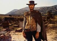 Clint Eastwood PHOTO The Good Bad Ugly Wild West Cowboy Western Film Movie Pic