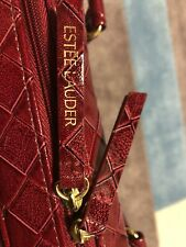 Este'e Lauder Lipstick Red Leather Weaved Limited Edition Bag(BrandNew)