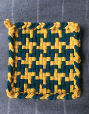 Handmade Potholder pattern Yellow and Green