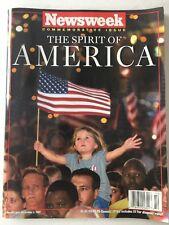 Magazine Newsweek Commutative Issue The Spirit of America 12/3/2001 Post 9/11