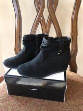 "Nine West Girls Black Suede Ankle Boot ""Katinka� -Size 5M. Euc"