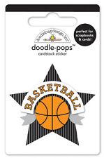 Doodlebug Design SLAM DUNK Basketball Doodle-pops Sticker 4769