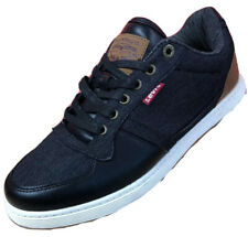 NEW $69 Levi's Men's Size 10 Black Denim Lace Up Casual Comfort Sneakers - NWT