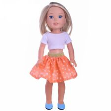 Doll Clothes 14.5 Inch Wellie Wishers Skirt Orange Star Top Fit 14.5 Inch Dolls7