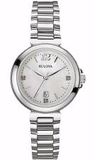 Bulova Women's 96P149 Diamond Hour Markers Mother of Pearl Dress Watch
