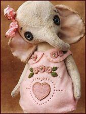 READY to SHIP Alla Bears artist art doll garden flower love toy baby decor gold