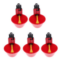 5Pcs Pack Poultry Water Drinking Cups- Chicken Hen Plastic Automatic Drinker