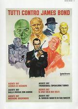 "2002 Vintage JAMES BOND ""TUTTI CONTRO"" ITALIAN FESTIVAL MINI POSTER ART Litho"