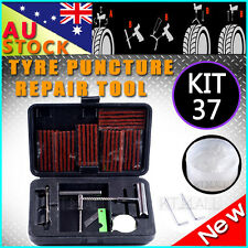 KIT 37 PIECE TIRE 4X4 4WD TYRE PUNCTURE REPAIR OFF ROAD PLUGS TUBELESS