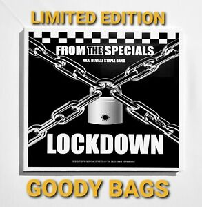 VINYL RECORD 45 & CD  LOCKDOWN GOODYBAGS FROM THE SPECIALS NEVILLE STAPLE SIGNED