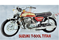 Suzuki T-500L Titan LARGE 5x3 Fridge Magnet