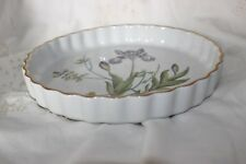 Appt to HRH Queen Spode Stafford Flowers Iris Flan Dish
