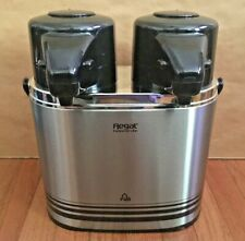 Regal Portable Duel Coffee Dispensers - Stainless Steel w/Two Pumps 1.0L + 1.0L