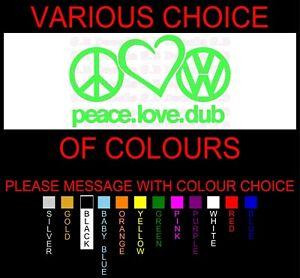 NO 146 PEACE LOVE DUB JDM STREET DRIFT DECAL