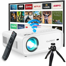 More details for vivimage explore 2 mini wifi projector smart led lcd 1080p home theater cinema