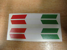 100mm x 9mm Italian Flag - set of 4 decals