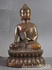 "9"" Tibet Buddhism Bronze Tota tower sakyamuni Tathagata Buddha statue"