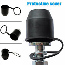 1X PVC Black Tow Bar Ball Towball Cover Cap Towing Hitch Trailer ProtectionCa .*