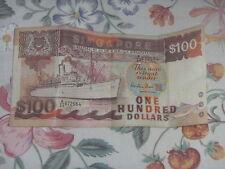 Old 100 dollar Singapore note - Ship series Passenger Liner