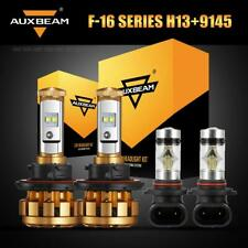 AUXBEAM H13 9008 LED Headlight Kit Bulbs+H10 9145 Fog Lamps for Ford F-150 04-14