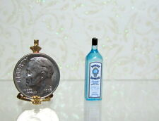Dollhouse Miniature BOMBAY Blue Gin Bottle