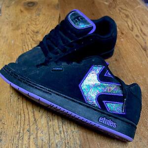 Etnies Fader Skate Shoes Women's 8.5 Eu39 UK6 Black Purple Near New
