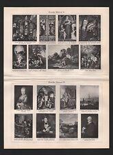 LITOGRAFICO 1925: Deutsche pittura. Dürer Lochner Schongauer Holbein PInstitute