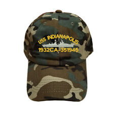COTTON GREEN CAMO CAMOUFLAGE USS INDIANAPOLIS 1932 CA-35 1945 CAP HAT