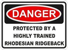 Dog Breed RHODESIAN RIDGEBACK Danger Sticker Pet for Bumper Locker Car Door