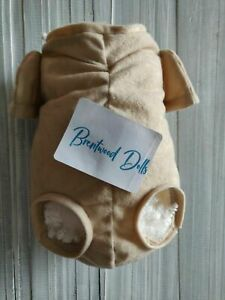 Doe Suede Reborn Doll Body ~ Front Loading Legs ~ 3/4 Arm.Choose Size and Colour