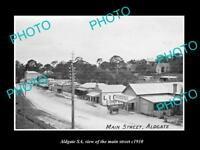 OLD LARGE HISTORIC PHOTO OF ALDGATE SOUTH AUSTRALIA VIEW OF THE MAIN STREET 1910