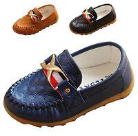 Fashion Kids Boys Girls Loafers Toddler Moccasin Prewalk Shoes Preschool EU19-28