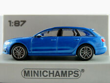 Minichamps 870 018112 Audi A6 Avant (2018) in blaumetallic 1:87/H0 NEU/OVP