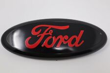 Black & Red 2005-2014 Ford F150 FRONT GRILLE/ TAILGATE 9 inch Oval Emblem 1PCS