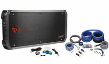 Rockville RXD-M4 6000 Watt/3000W RMS Mono Car Amplifier+100% Copper Amp Wire Kit