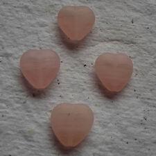 Perline Vetro Ceco ~ 11mm ~ Cuore Rosa