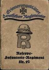 (20423)   Schwencke Geschichte des Reserve Infanterieregiments Nr. 19,  1914